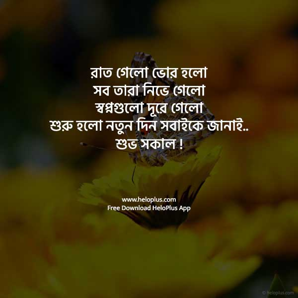 good morning quotes in bengali